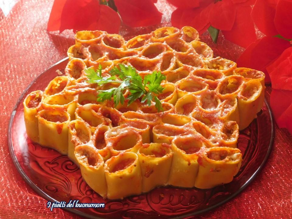 Torta Salata Stella Di Natale.Stella Di Paccheri Una Gustosa Idea Per Il Pranzo Di Natale I